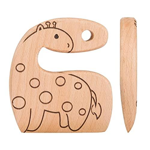 PIGMANA Kindermesser Aus Holz Zum Kochen - Kindersichere Messer - Küchenspielzeug, Zerkleinerer, Gemüse- Und Obstschneider Käse, Brot Und Vieles Mehr (für 2–5 Jahre) Handsome