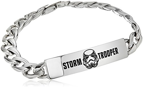 Star Wars Jewelry Stormtrooper Bracelet à maillons en acier inoxydable 20,3 cm
