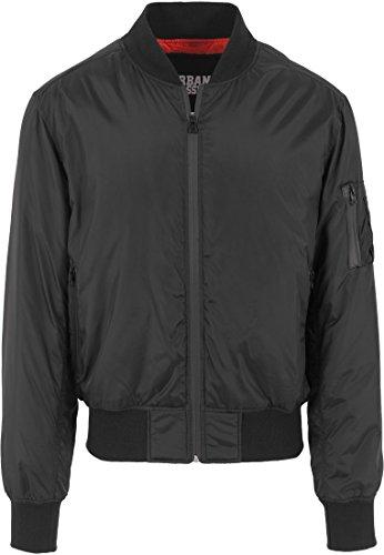 Urban Classics Jacke Tech Zip Bomber Jacket Blouson, Noir (Schwarz), (Taille Fabricant: Small) Homme