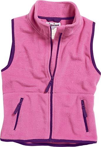 Playshoes Kinder Fleeceweste farbig abgesetzt Weste, Rosa (pink 18), 104