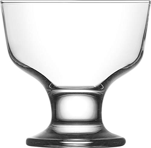 Clear Glass Footed Dessert Bowls, 9.6 Ounces