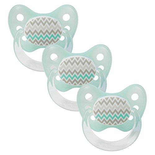 Dentistar® Schnuller 3er Set - Baby Nuckel Silikon in Größe 2, 6-14 Monate - zahnfreundlich & kiefergerecht - Beruhigungssauger für Babys - Made in Germany - BPA frei - Wellen