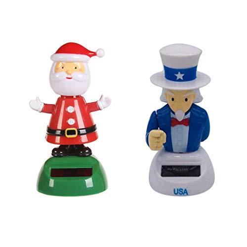 LOVIVER Adorable Muñeca para Niños Navidad Juguete Santa Claus Tío Sam