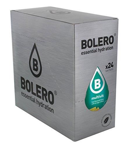 Bolero Bebida Instantánea sin Azúcar, Sabor Multivitaminas - Paquete de 24 x 9 gr - Total: 216 gr