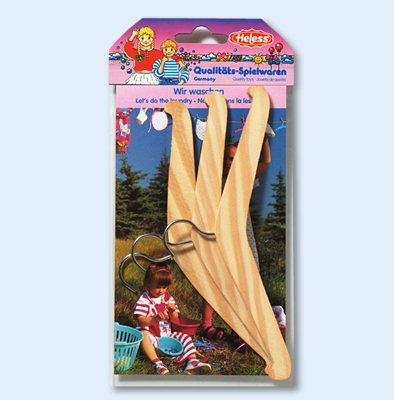 304 - Heless - Kleiderbügel aus Holz, 3 Stück