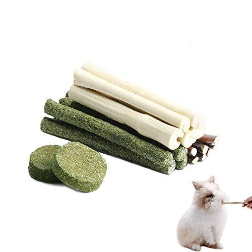 YUEMING100g Aperitivos para Mascotas,Natural Palitos de Manzana Bambú Dulce Timothy Palitos Chew Toy, para Pequeños Animales Conejos, Chinchillas, Hámsters, Conejillos de Indias