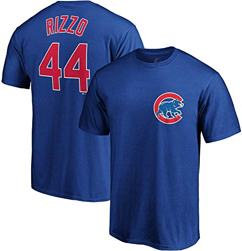 Outerstuff MLB Youth Performance Polyester Team Color Player Name and Number Jersey T-Shirt (Large 14/16, Anthony Rizzo)