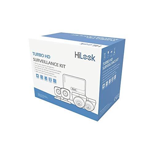 HILOOK Kit CCTV 720p TURBOHD/DVR 4 Canales / 2 Cámaras Bala / 2 Cámaras Domo/Cables 18 MTS / 1 Fuent