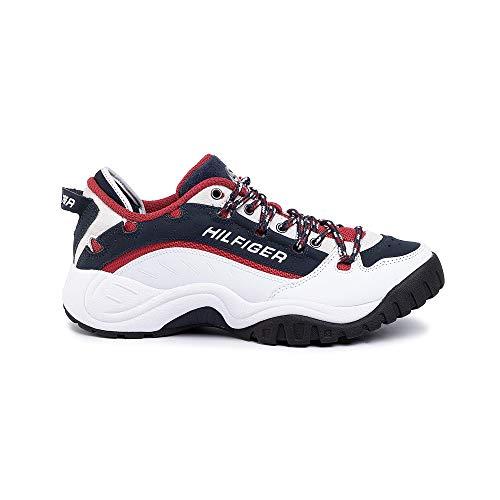 Tommy Hilfiger Tommy Jeans Heritage - Zapatillas Deportivas para Hombre EM0EM00374 0K5 RWB Multicolor Size: 46 EU
