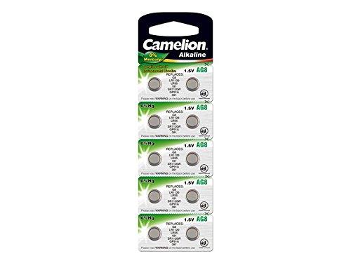 10 Stk. (1 Blister) Camelion 0prozentHG Alkaline 1,5V Knopfzellen Uhren-Batterien AG8, 191, 391, SR1120, LR1120, SR1121, LR1121