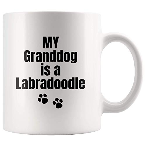 Dog Gifts My Granddog is A Labradoodle Dog Gifts for Doodle Dog Grandmother Mom Ceramic Dishwasher and Microwave Safe Coffee Mug
