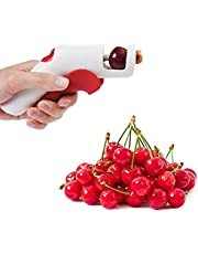 Kersenontpitter, draagbaar Gebruiksvriendelijk Bediening met één hand Plastic kersenontpitterverwijderaar voor kersen voor olijfpitten