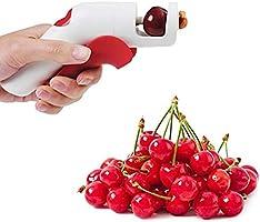 Kersenontpitter, draagbaar Gebruiksvriendelijk Bediening met één hand Plastic kersenontpitterverwijderaar voor kersen...