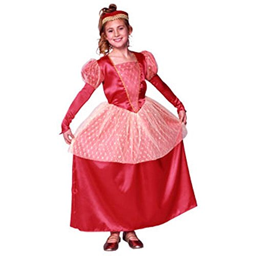 Children's Queen Of Hearts Costume Size Youth Small 4-6