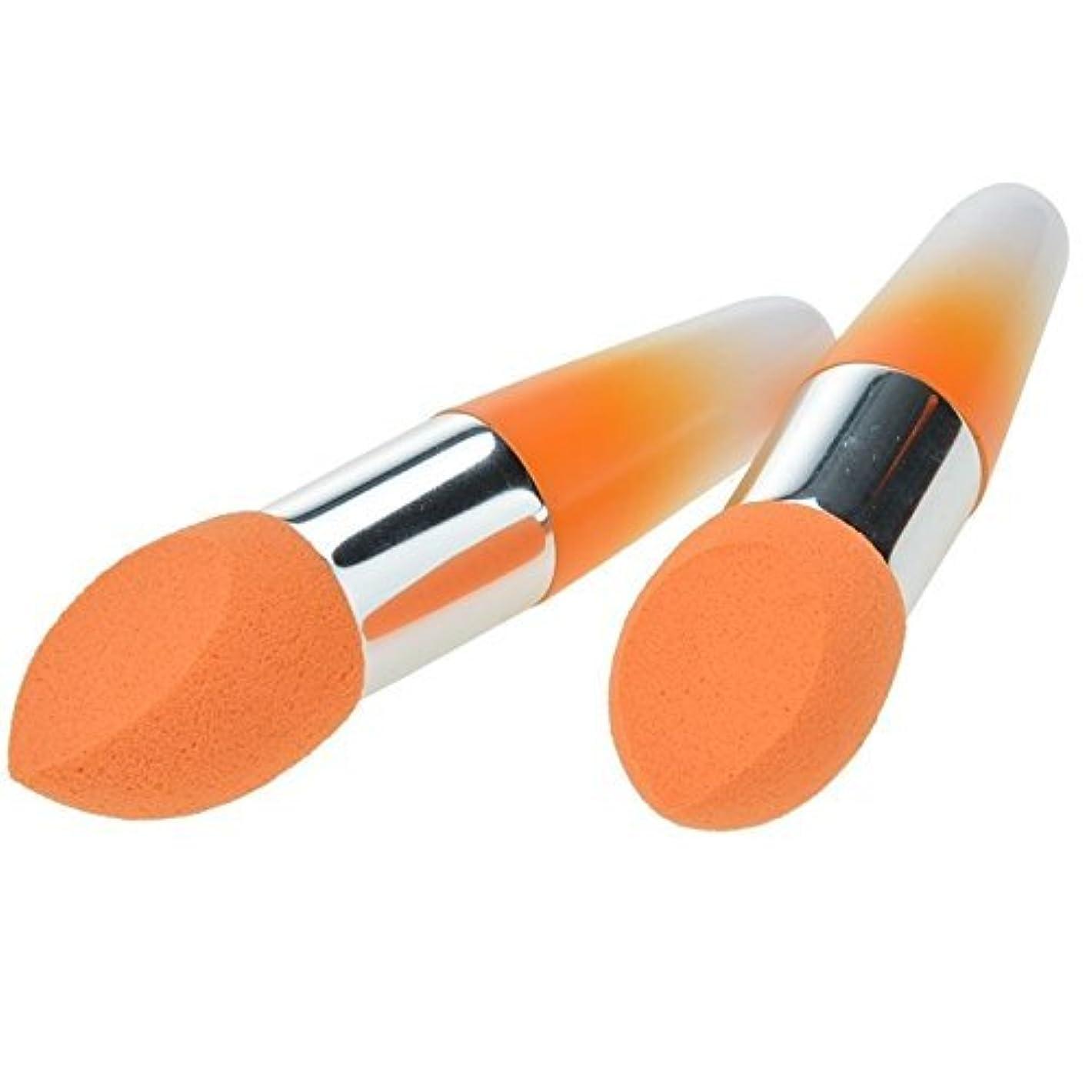 女性の化粧品化粧品液体ブラシファンデーションクリーム2個のロリポップコンシーラースポンジブラシセット