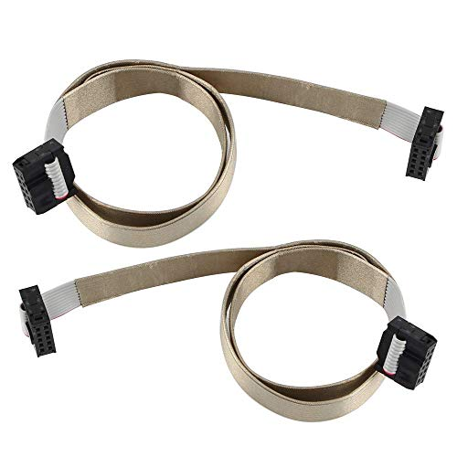 Toaiot - Placa base de impresora 3D de 10 pines IDC conector cable plano de cinta F/F 2,54 mm paso 0,5 m / 1,96 pulgadas para cable de pantalla LCD para Ender 3 / Pro Prusa I3 Anet A8-2Pcs