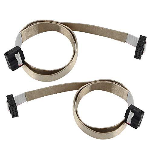 Toaiot - 2 pezzi per scheda madre per stampante 3D 10 pin IDC connettore cavo piatto a nastro F/F 2,54 mm passo 0,5 m 1,96 pollici per cavo schermo LCD per Ender 3/Pro Prusa I3 Anet A8