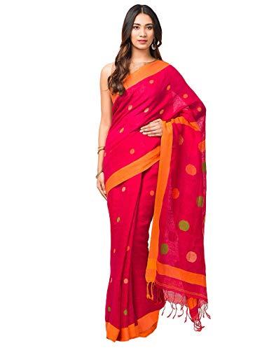 Fabindia linen with blouse piece Saree (10517482_ Mg_ 6.4M x 1.16M)