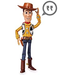 Soft Body Construction, Solid Head and Boots, Detachable Cowboy Hat. Pull-String Talking Woody. Ages 3 and up. Runs on 3 AG13 batteries (included). Says 10 Different Phrases.