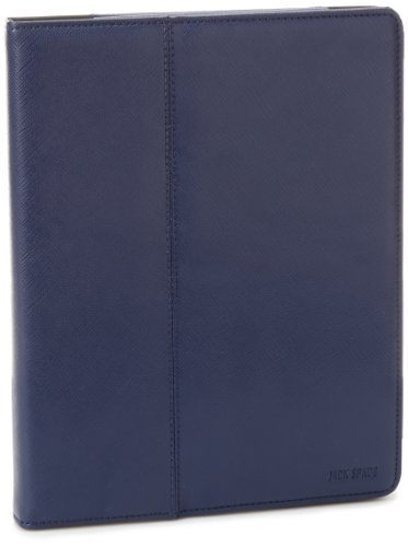 Jack Spade Men's Wesson Leather Hardcover Stand W/Tablet Notebook Bag, Blue, One Size