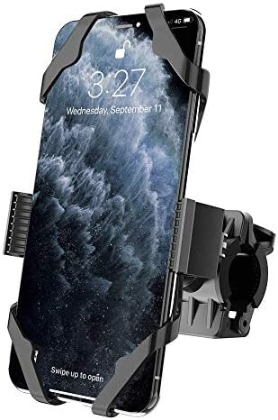Bike Mount, IPOW Universal Cell Phone Bicycle Rack Handlebar & Motorcycle Holder Cradle Compatible with iPhone 12/11 Pro Max/X/XR/XS MAX/8/7 Plus, Samsung Galaxy S10/S10e/S9, Nexus, HTC, LG