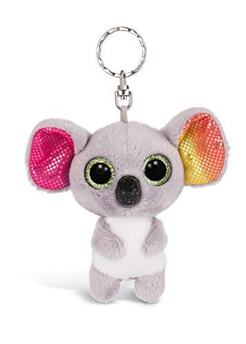 Nici 46310 Glubschis Koala Miss Crayon 9cm Schlüsselanhänger, Plüschtieranhänger mit Schlüsselring, Stofftierschlüsselhalter, Graun/Bunt