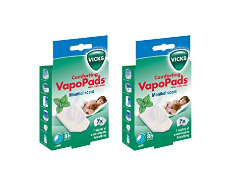 2 x Vicks Comforting Soothing Menthol VapoPads 2 packs of 7 = 14 Pads
