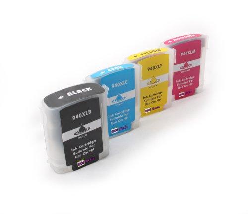 Set di cartucce compatibili con HP 940XL | Nero/Ciano/Magenta/Giallo | Adatto per HP Officejet Pro 8000/8000Enterprise/8000Wireless/8500/8500a/8500a Plus/8500a Premium/8500Premier/8500Wireless