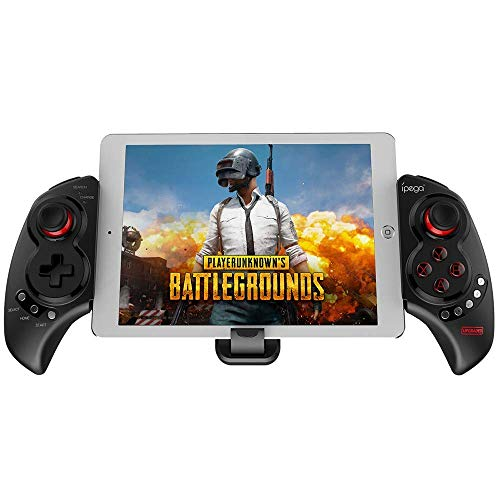 VIVICF PG-9023S Mobile Game Controller, Wireless 4.0 Gamepad PUBG Trigger Mobile Phone Telescopic Controller Joy Stick for iPhone Compatible with 5-10' iOS/Android Phone PC Tablet TV Box