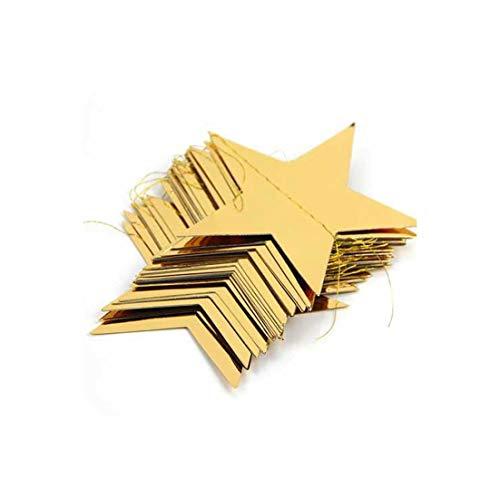 1 stuk 3.8M folie gouden ster slinger gelukkig jaar decoratie vrolijke kerstboom ornamenten kerstversiering voor thuis