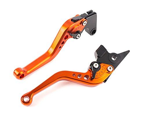 YJS Cortocircuito de la motocicleta Palancas de embrague del freno de aluminio ajustable del CNC para YAMAHA Orange