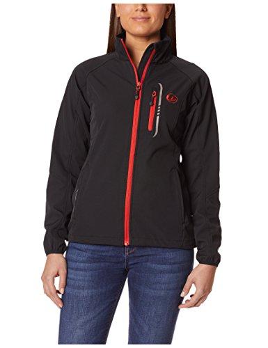 Ultrasport Damen Leichte Softshell Jacke Mia, Schwarz/Rot, XL