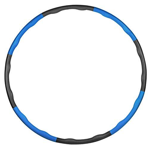 Mture Hula Hoop Reifen zur Gewichtsreduktion, Schaumgepolsterter Verstellbarer Hula Hoop Reifen für Fitnessübungen