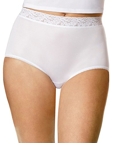Hanes Women's 3 Pack Nylon Brief Panty, Assorted, 10
