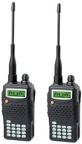 Paire de Talkie Walkie, 99 canaux, écran LCD Avec rétro éclairage, Multi-scan, 136-174 MHz