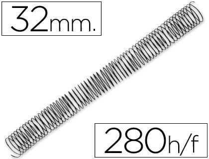 Q-Connect KF04686 - Pack de 50 espirales metálicos