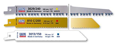 3 tlg. Säbelsägeblätter Set Bi-Metall / HCS Wilpu