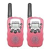 ZRNG 2 unids Apto para BAOFENG Mini WALKIE Talkie NIÑOS Radio BF-T3 2W UHF462-467 (MHz) Radio de Dos vías Radio portátil Radio Regalo para niños (Color : Pink)