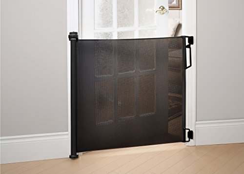 Bily Retractable Safety Gate Black