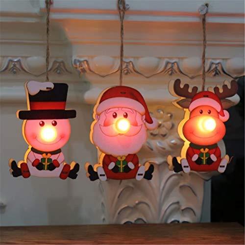 Sunrise-EU Weihnachtsdekoration, Anhänger aus Holz, für Weihnachten, Geschenke für Kinder, Anhänger Weihnachtsbaum