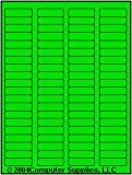 1,600 Label Outfitters Fluorescent Green Laser ONLY Labels,1.75 x 0.5 inches, 20 Sheets,