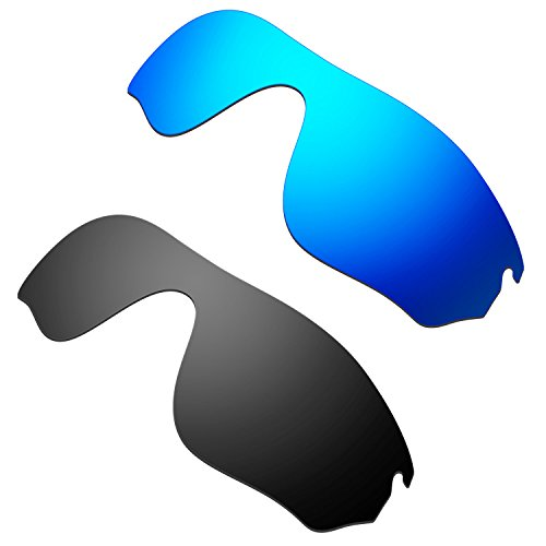 HKUCO Mens Replacement Lenses for Oakley RadarLock Pitch Sunglasses Blue/Black Polarized