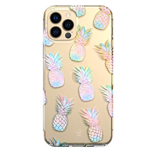 Velvet Caviar Clear Case for iPhone 12 Pro Max [8ft Drop Tested] (Holographic Pineapple)