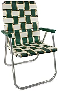 Lawn Chair USA Webbing Chair (Classic, Charleston with Green Arms)