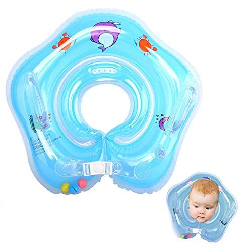 Baby Schwimmring, Baby Schwimmen Hals Ring Schwimmhilfe, Mitwachsende Schwimmhilfe, Baby Float, Kinder Schwimmreifen ab 6 Monate bis 3 Jahre (Blue)