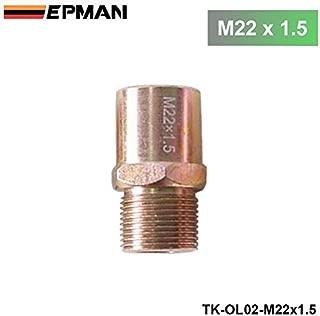 EPMAN JDM Oil Cooler Filter Sandwich Plate Adapter Sensor M22x1.5