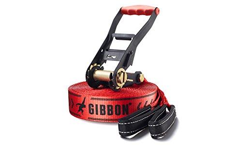 GIBBON Slacklines Classicline Red Edition 49-Feet Slackline Set, 15 m