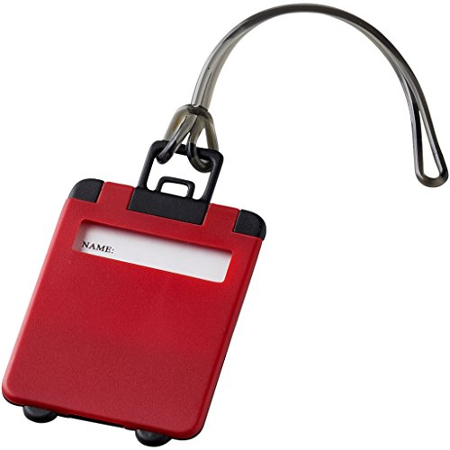 Bullet Taggy Luggage Tag (8 x 5.5 x 0.4 cm) (Red)