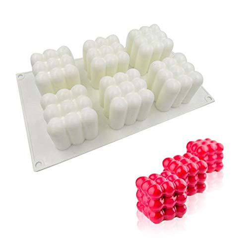 6 Holes Cake Mold For Baking Home Party Wedding Silicone Mould Mousse DIY Baking Christmas Valentine s Day-whiet_2