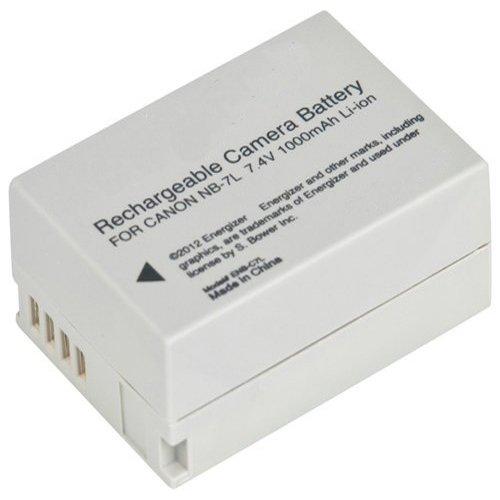 amsahr Grade A Celle della batteria (1200mAh, 3.7V) per Canon NB-7L Grigio